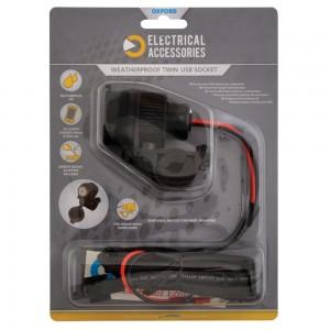 dual usb socket 2 aansluitingen