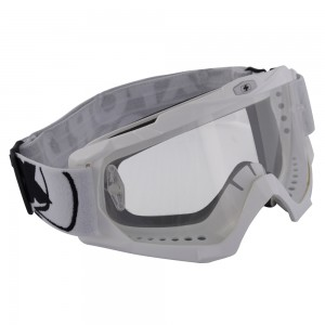 assault pro goggle crossbril glossy white
