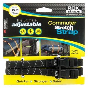 commuter straps LD 12mm zwart reflecterend