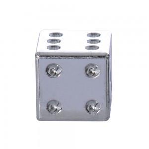valve caps ventieldopjes dobbelsteen zilver