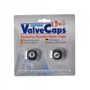 valve caps ventieldopjes eight ball zwart