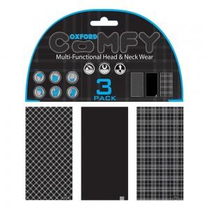 comfy black white tartan