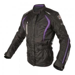 dakota motorjas zwart paars 2