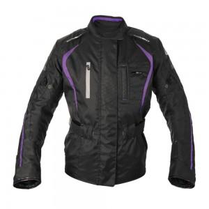 dakota motorjas zwart paars