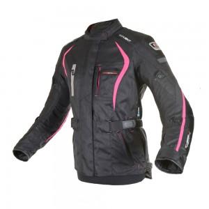 dakota motorjas zwart roze 3
