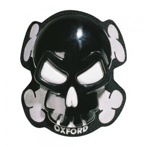 knee slider skull zwart