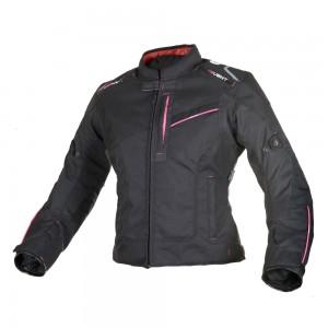 valencia motorjas vrouw zwart-roze 2