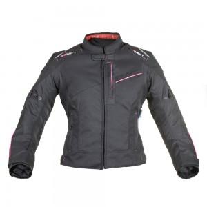 valencia motorjas vrouw zwart roze