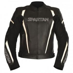 spartan leren motorjas sportief