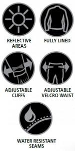 Eenvoudige, maar zorgvuldig ontworpen en prachtig lichtgewicht gemaakt bescherming tegen weersinvloeden . Het is correct te upsized , dus als je motorkleding is een GROTE , zult u LARGE Rainseal bovenkleding nodig - eenvoudig!